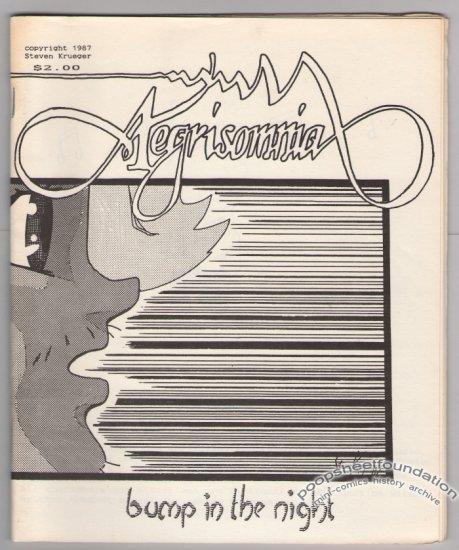 AEGRISOMNIA #1 mini-comic STEVE KRUEGER small press 1987