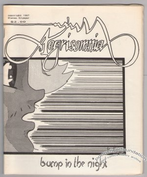 AEGRISOMNIA #1 mini-comic STEVE KRUEGER small press 1987