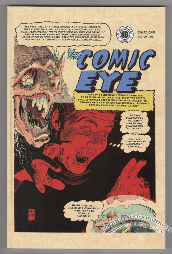 COMIC EYE softcover book DAVE SIM Rick Geary FRED HEMBECK Bernie Mireault 2007