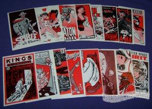 KITCHEN SINK CARDS set of 36 R. CRUMB Al Capp HARVEY KURTZMAN 1989