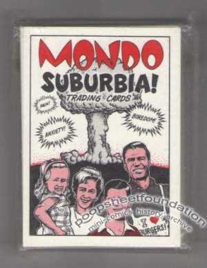 MONDO SUBURBIA comix cards JIM WOODRING Dan Clowes PETER BAGGE Pizz XNO 1990