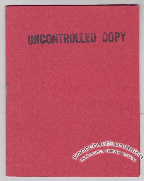UNCONTROLLED COPY mini-comix MARY FLEENER Jeff Gaither MICHAEL RODEN Steve Willis 1986