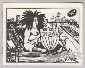 BAR'S MANGLED HAMMER underground comix DOLPHIN-MOON mini-comic 1985