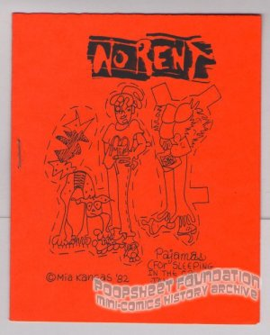 NO RENT mini-comic MIA KANGAS underground Comix World 1982