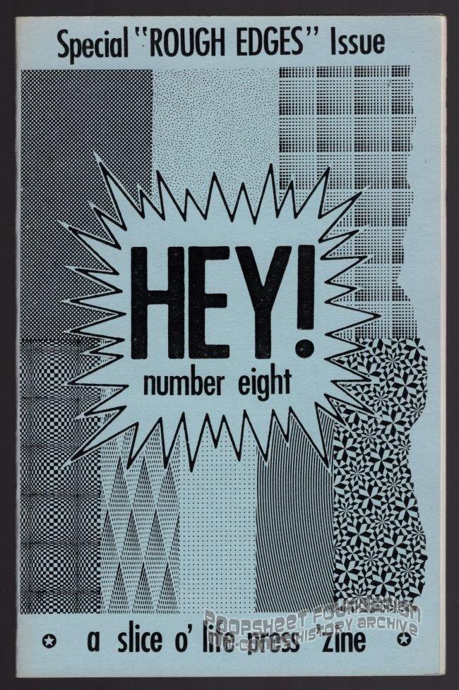 HEY #8 mini-comic D. TOSH Brad W. Foster JIM CONATSER Jon Lewis 1989