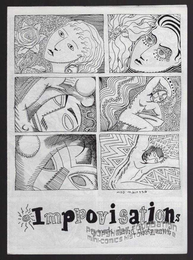 IMPROVISATIONS mini-comic MARK DAVID DIETZ small press 1994