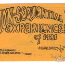 NON-SEQUENTIAL EXPERIENCES OF 1981 underground comix ROGER MAY mini-comic numbered edition