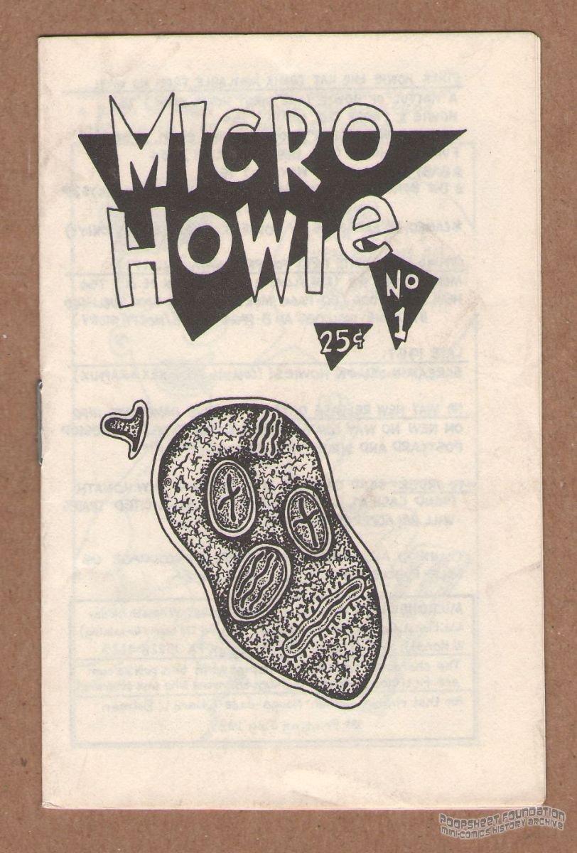 MICRO HOWIE underground comix WAYNO mini-comic minicomix Howie the Hat 1987