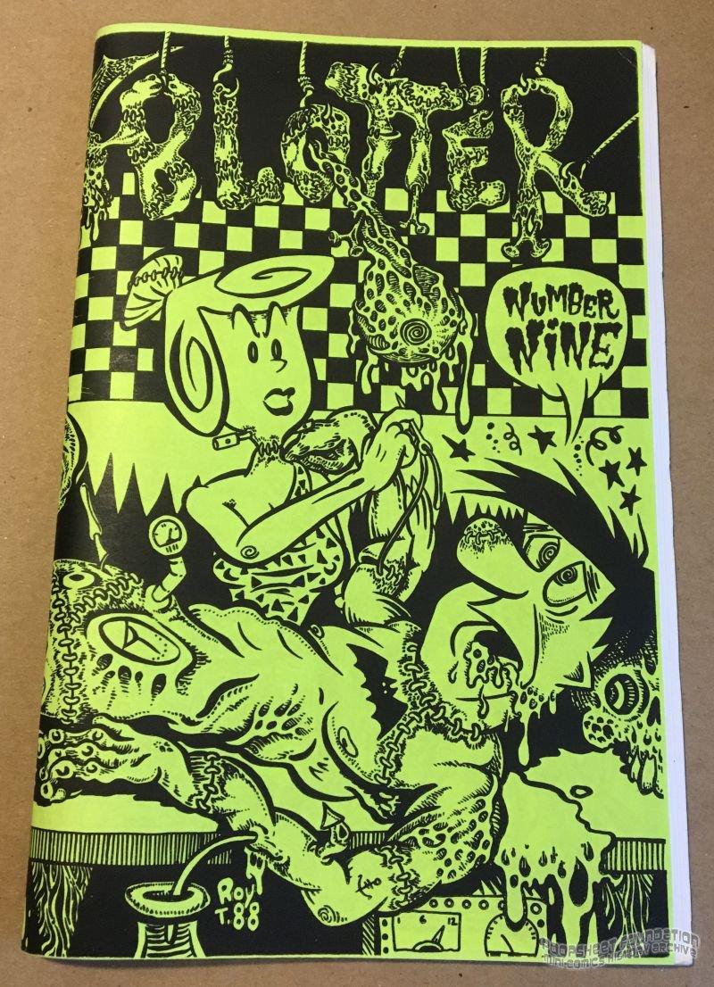 BLOTTER #9 underground comix ROY TOMPKINS Michael Roden SLOANE Gaither XNO 1988