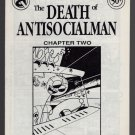 DEATH OF ANTISOCIALMAN #2 mini-comic MATT FEAZELL small press comix 1990