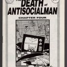 DEATH OF ANTISOCIALMAN #4 mini-comic MATT FEAZELL small press comix 1991 1st