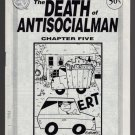 DEATH OF ANTISOCIALMAN #5 mini-comic MATT FEAZELL small press comix 1991