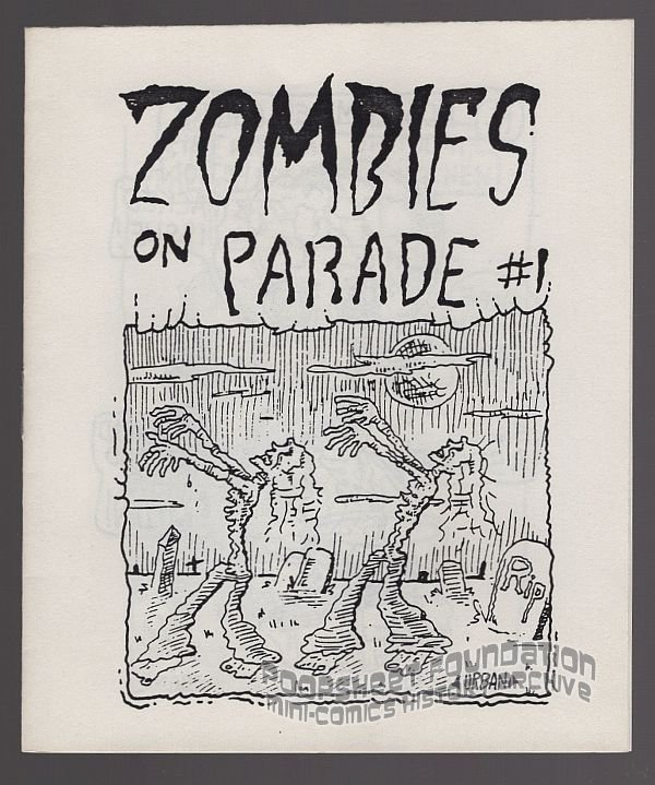 ZOMBIES ON PARADE underground comix MIKE URBAN mini-comic CW 1980s