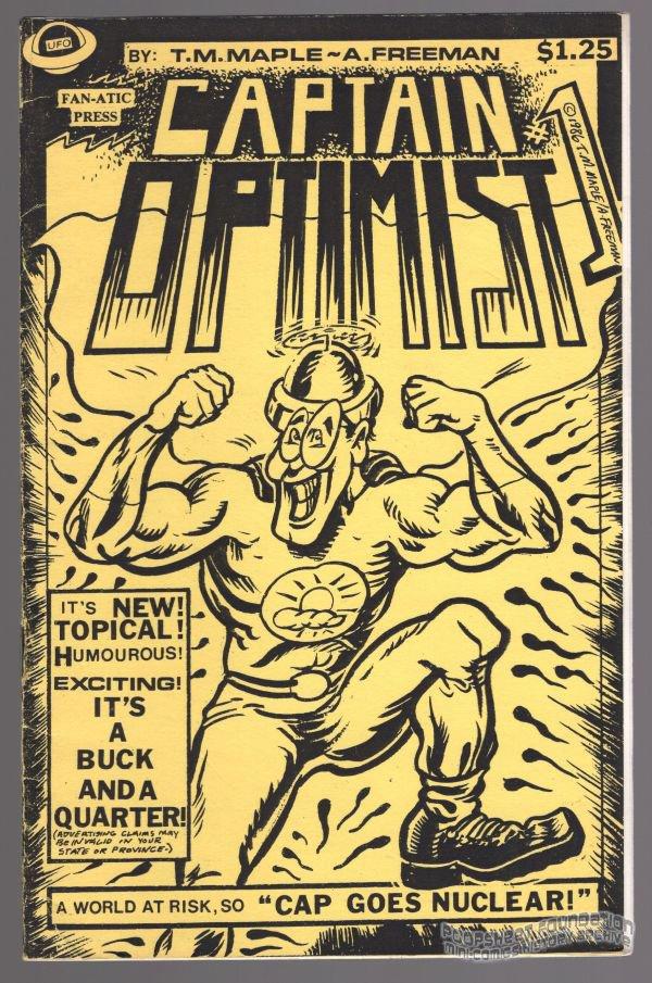 CAPTAIN OPTIMIST #1 mini-comic T.M. MAPLE Allen Freeman small press SIGNED 1986