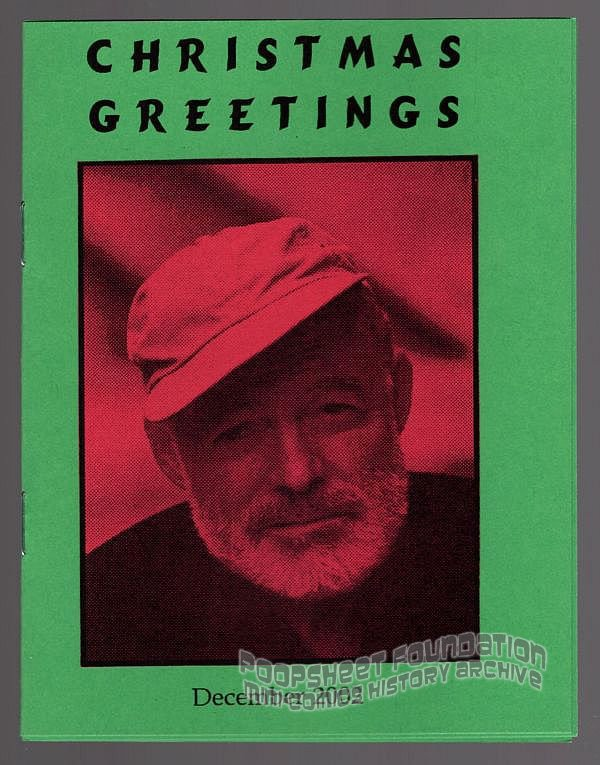 CHRISTMAS GREETINGS mini-comic ANDY NUKES art brut Santa Claus comix 2002