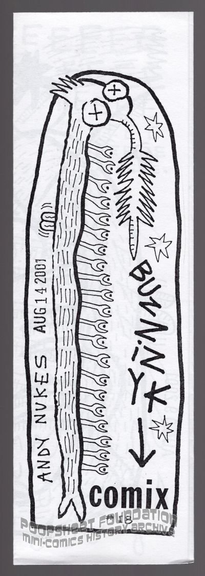BUZZIZYK COMIX #18 underground ANDY NUKES mini-comic 2000s