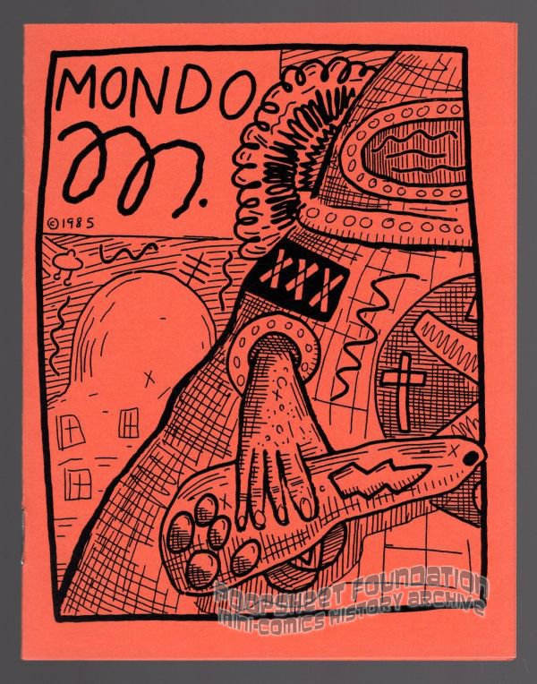 MONDO M mini-comic ANDY NUKES Meher Dada underground comix art brut punk 1985