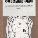 SKULL STICKER SET underground comix ANDY NUKES art brut skulls