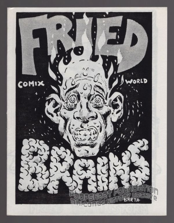 FRIED BRAINS #11 underground comix HILARY BARTA solo mini-comic Comix Wave 1985