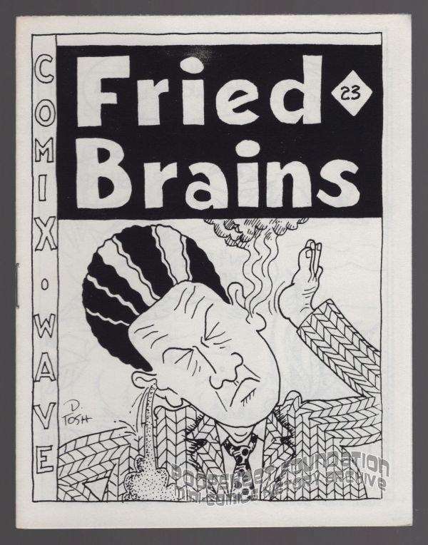 FRIED BRAINS #23 underground comix DAVID MILLER David Tosh BOB SHERIDAN minicomic 1987