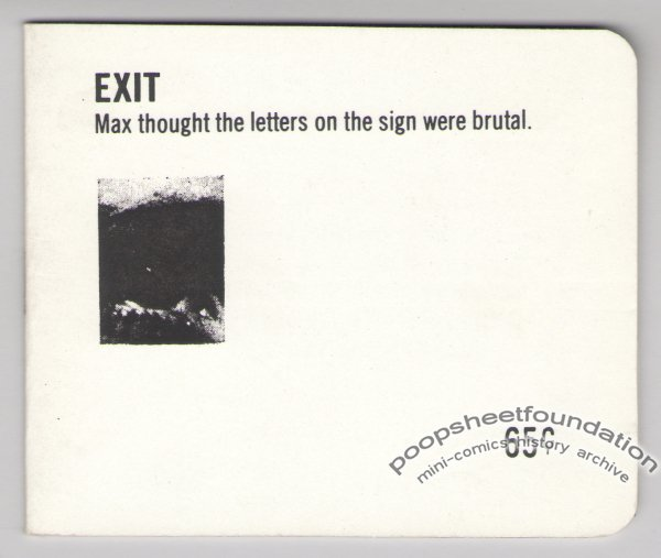 EXIT collage zine STEVE THRASHER found art self-published 1981