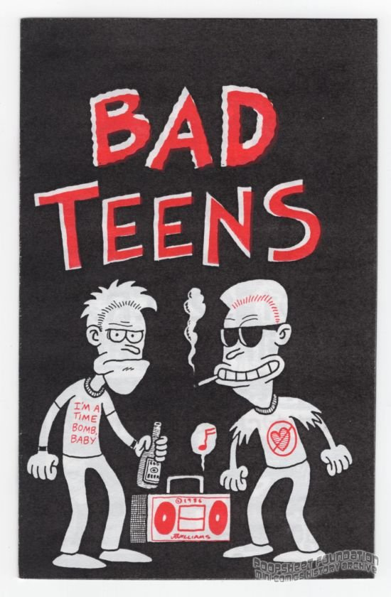 BAD TEENS underground comix J.R. WILLIAMS minicomix Starhead 1992