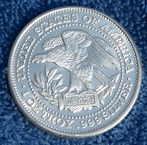 1 Troy Ounce Silver Uncirculated Northwest Territorial Mint Round Bullion Bar