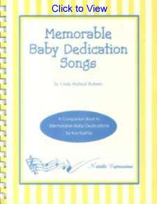 Memorable Baby Dedication Songbook