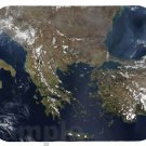mouse pad GREECE SATELLITE MAP greek western turkey