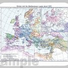 mouse pad EUROPE MAP 1097 first crusade holy crusades