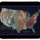mouse pad USA TOPOGRAPHIC SATELLITE IMAGE MAP mouse pad