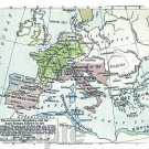 mouse pad EUROPE MAP 526 AD barbarian barbarians tribes