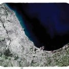 mouse pad CHICAGO SATELLITE MAP illinois