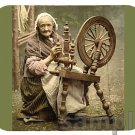 mouse pad IRISH SPINNING WHEEL 1890s yarn thread