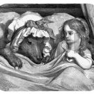 mouse pad mat LITTLE RED RIDING HOOD by gustave dore