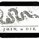 mouse pad JOIN OR DIE ben franklin drawing mouse mat