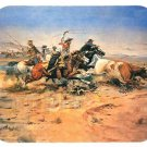mouse pad HERD QUITTERS c. m. russell cowboy rodeo art