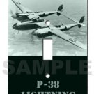 glowing switch plate P-38 LIGHTNING american fighter