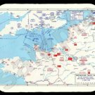 mouse pad BATTLE OF NORMANDY MAP d-day wwii world war 2