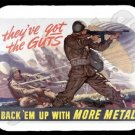 mouse pad mat GOT THE GUTS wwii paratrooper airborne