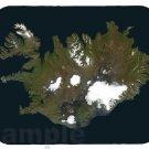 mouse pad ICELAND SATELLITE MAP image