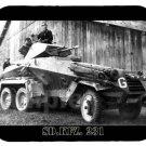mouse pad SD.KFZ. 231 german armored car sdkfz