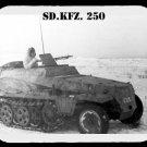 mouse pad SD.KFZ. 250 german armored car half-track