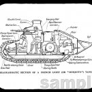 mouse pad RENAULT FT-17 TANK DIAGRAM ft17 ft 17