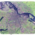 mouse pad AMSTERDAM SATELLITE MAP netherlands holland