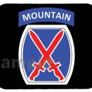 mouse pad 10TH MOUNTAIN DIVISION u.s. army tenth