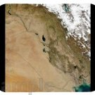 mouse pad IRAQ SATELLITE MAP image mouse pad