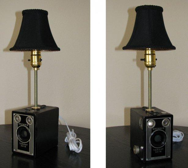 Brownie Target Six-16 box camera lamp