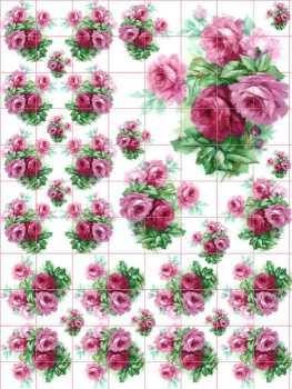 Shabby Rose Decals~Antique Handpainted China~HP Chic D3D