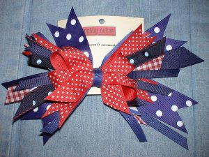 Red White & Blue Flash Bow